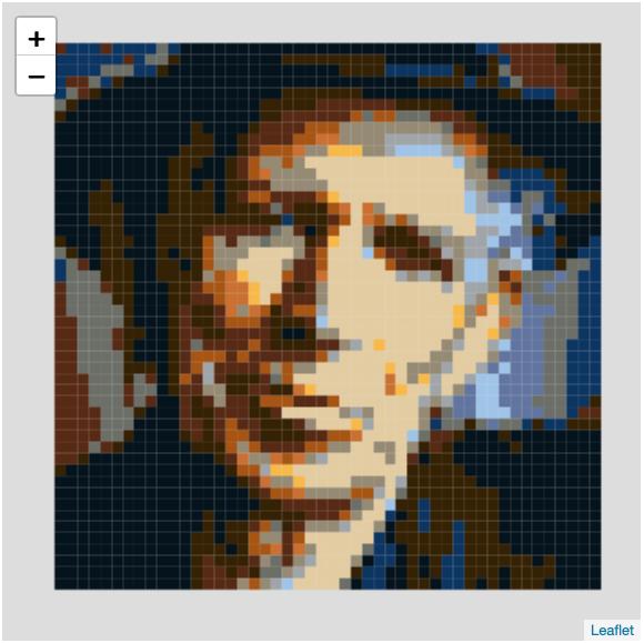 Keith as a Beatles mosaic