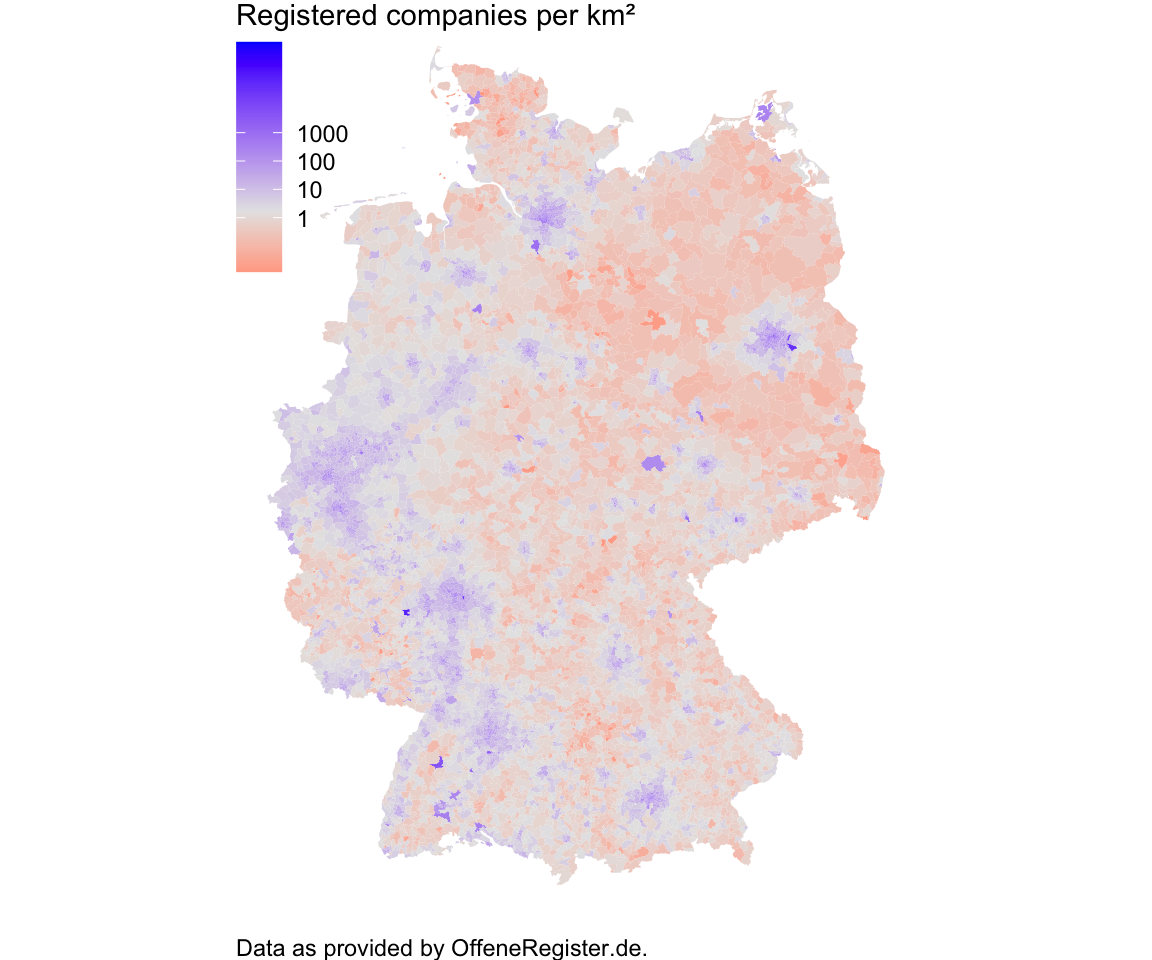 Where the German Companies Are